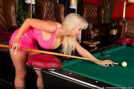 Vanessa playing pool in latex - 08