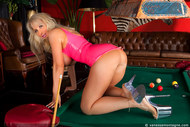 Vanessa playing pool in latex - 15