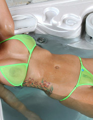 Alison Tyler green bikini - 03