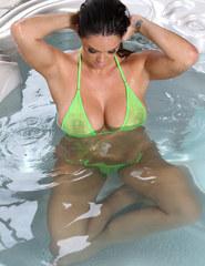 Alison Tyler green bikini - 05
