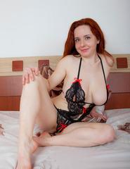 Curvy Redhead Sara Nikol - 02