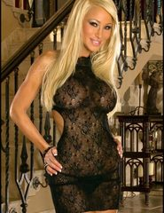 Blonde secretary in sheer babydoll - 00