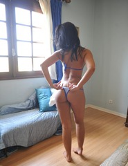 Anita In Blue Bikini - 03