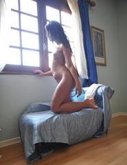 Anita In Blue Bikini - 09