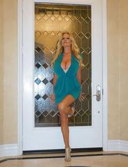 Kelly Madison In Blue Dress - 01