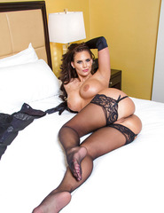 Curvy Brunette Phoenix Marie In Stockings - 07