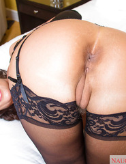 Curvy Brunette Phoenix Marie In Stockings - 11