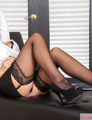 Stocking Attired Blonde Babe August Ames - 02
