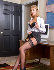 Stocking Attired Blonde Babe August Ames - 03