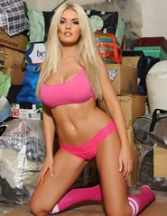Tommie Jo Strips Out Of Her Sporty Pink Top - 00