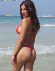 Lacey In Red Bikini - 01