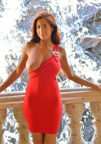 Stacy In Sexy Red Dress
