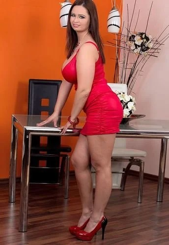 Sirale In Sexy Red Dress