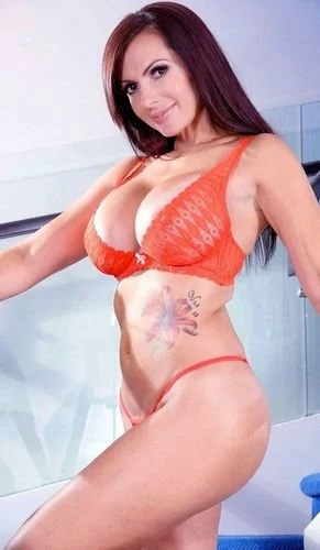 Catalina In Orange Lingerie