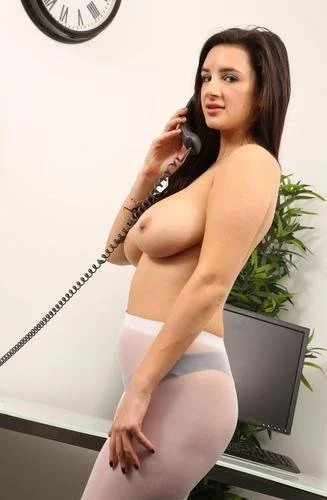 Cara Ruby Busty Intern Strips Nude