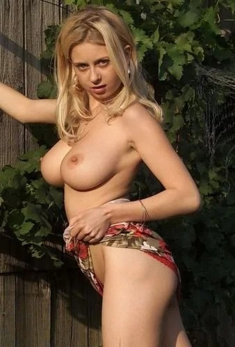 Natural busty blonde