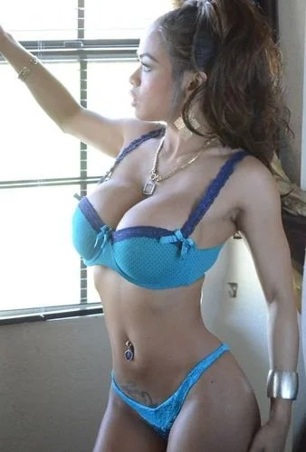 Armie in blue lingerie